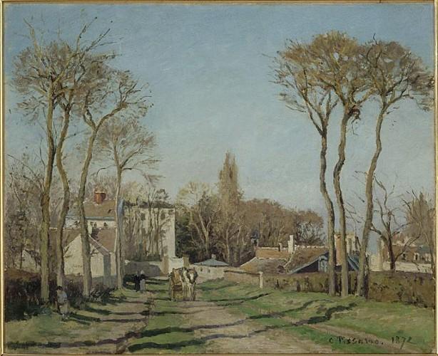 Entrée du village de Voisins - Camille Pissarro  - 1872 - Musée d'Orsay, Paris