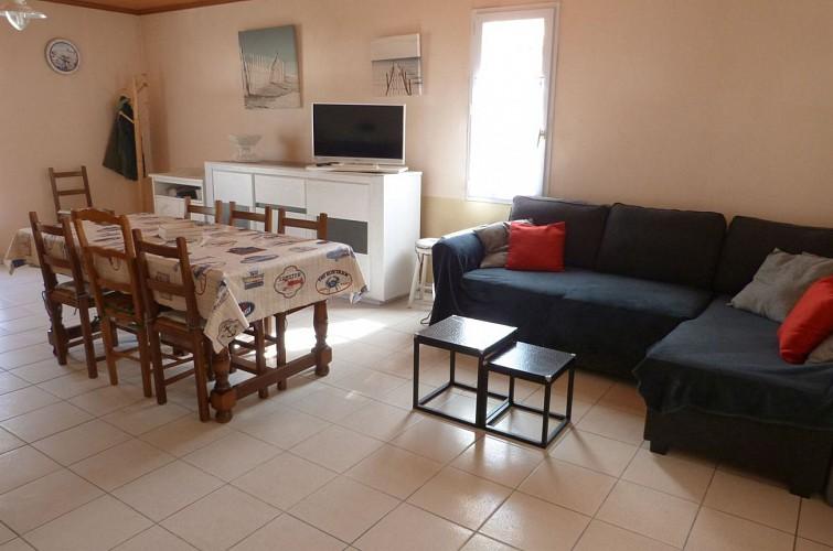Agréable maison de vacances dans le quartier du Phare, à 100m de la plage