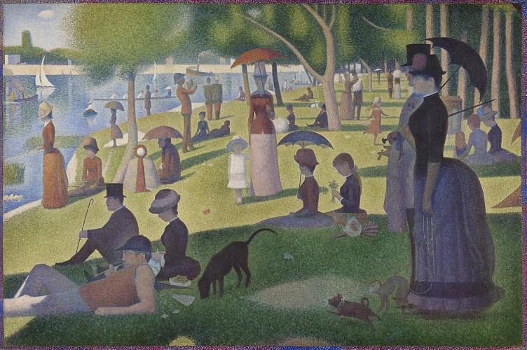 A Sunday afternoon at La Grande Jatte – Georges Seurat - 1884