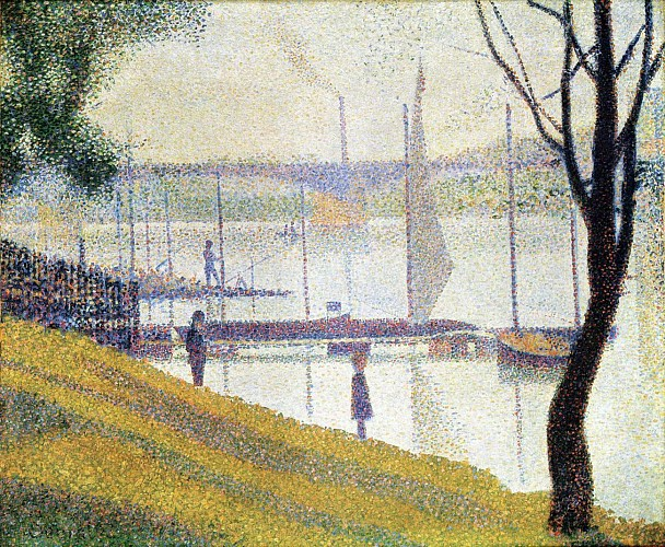 The Courbevoie Bridge - Georges Seurat - (1886 1887)