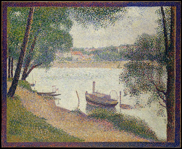 Georges Seurat - Gray weather at the Grande Jatte -  1888