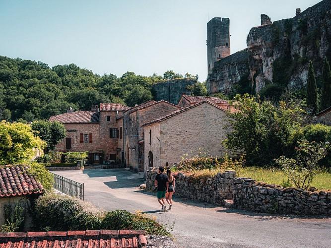 Château de Gavaudun_Vue aérienne