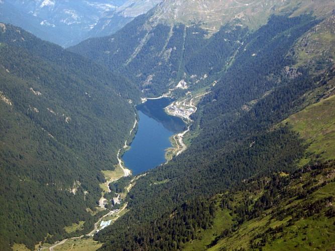 Lac-Fabreges-Vue-Aerienne