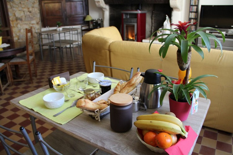 Odé - un petit-déjeuner préparé avec soins par vos hôtes
