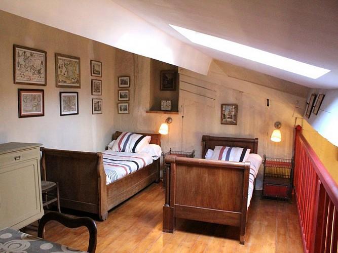 Ancien relais de poste - Appartement Henri - Lits en mezzanine
