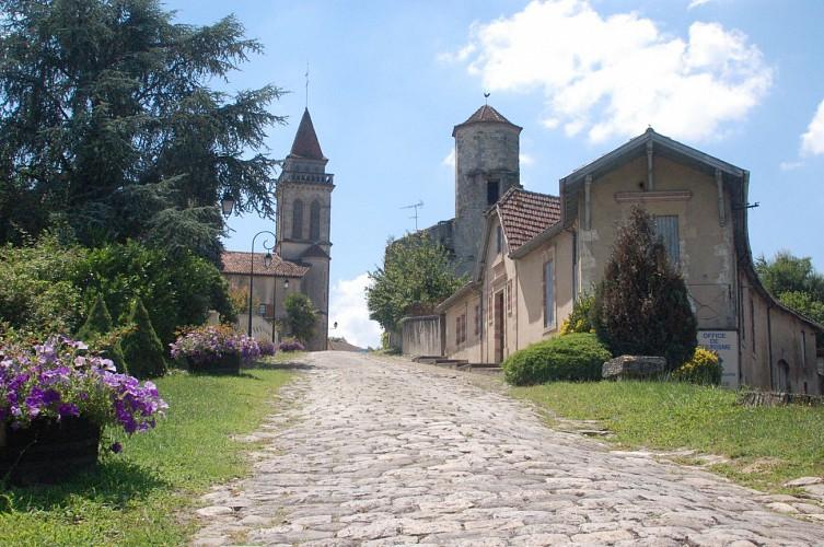 Saint Justin - Côte pavée horizontal