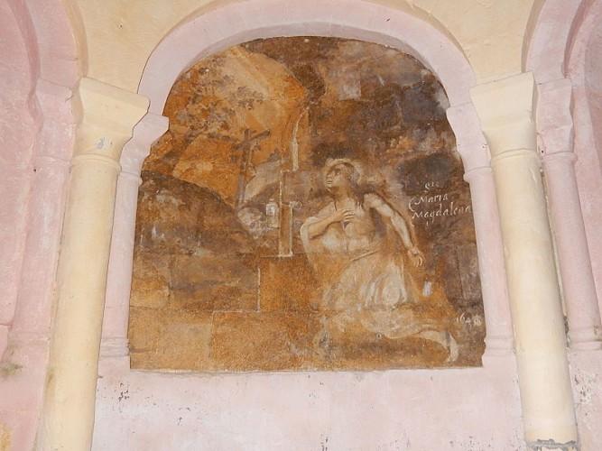 Eglise Boulouneix fresque sainte Marie Madeleine
