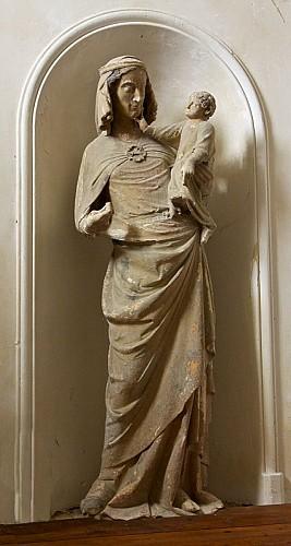 Vierge à l'Enfant église de La Chapelle-Montmoreau
