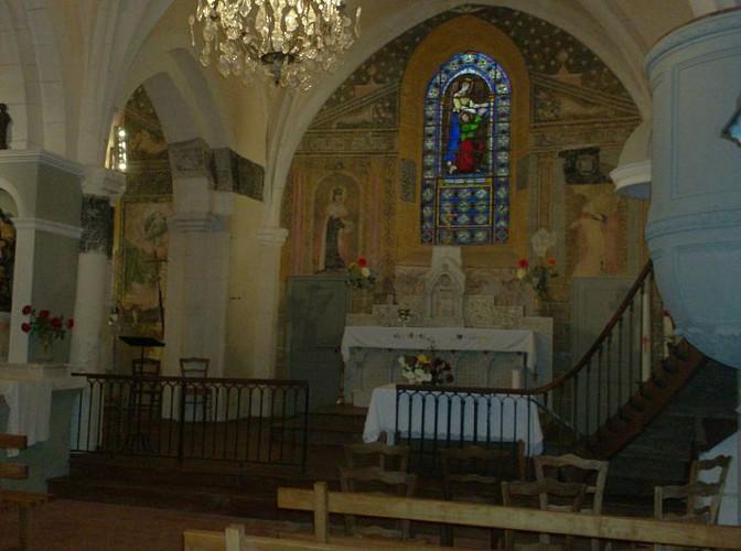 Fresques à l'église de Teyjat