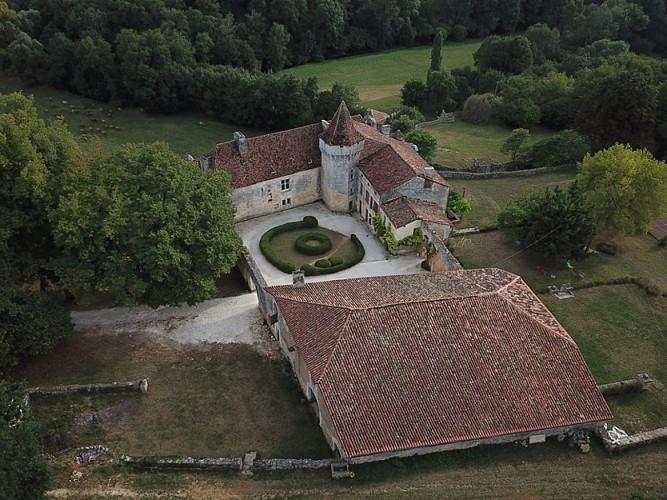 Château d'Aucors vue aérienne