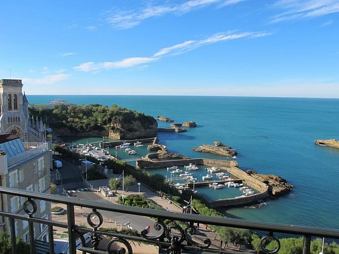 Dufoix Vue Port des pêcheurs Biarritz
