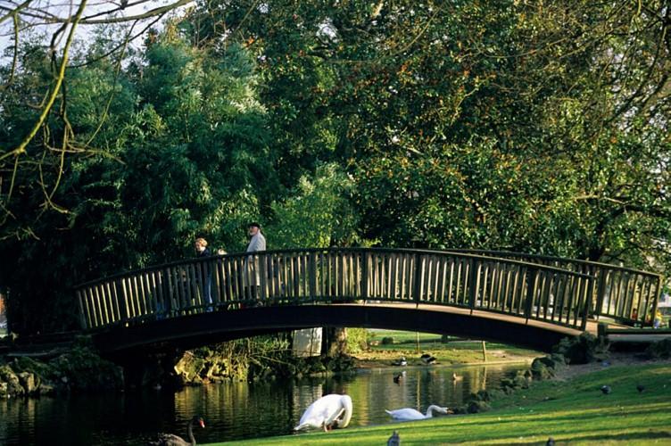 jardin public, le pont en bois