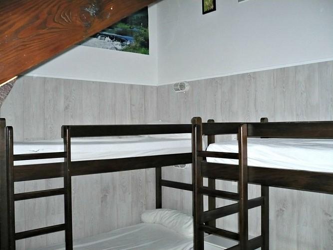 Chalet Duzert - Chambre avec lit superposé