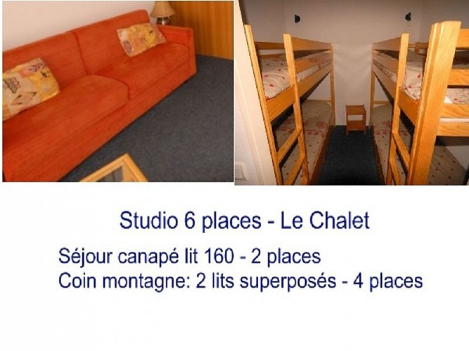 AGENCE BARROSO - LE CHALET 16 COUCHAGE