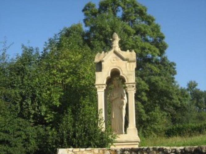 Destination Garonne, Statue Sainte Radegonde, Arbanats