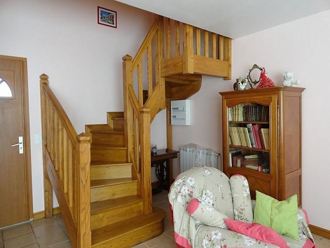 Location Trounday - 12 - Bibliothèque et escalier - Ossès
