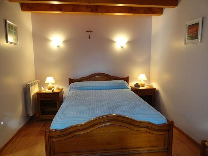 Location Trounday - 13 - Chambre lit double bleu - Ossès