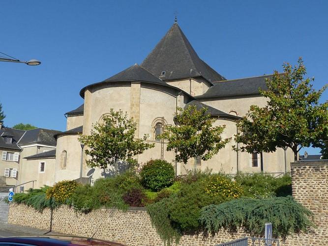 Morlaàs, église sainte Foy, chapiteau du choeur,  décollation de Sainte Foy