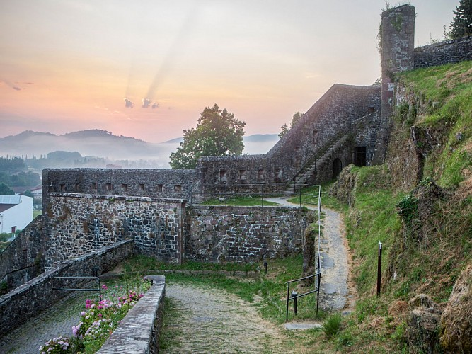 remparts citadelle st jean pied de port hd carton