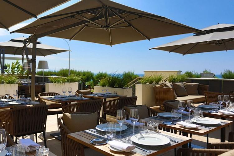 Restaurant Régina Iqori Biarritz terrasse