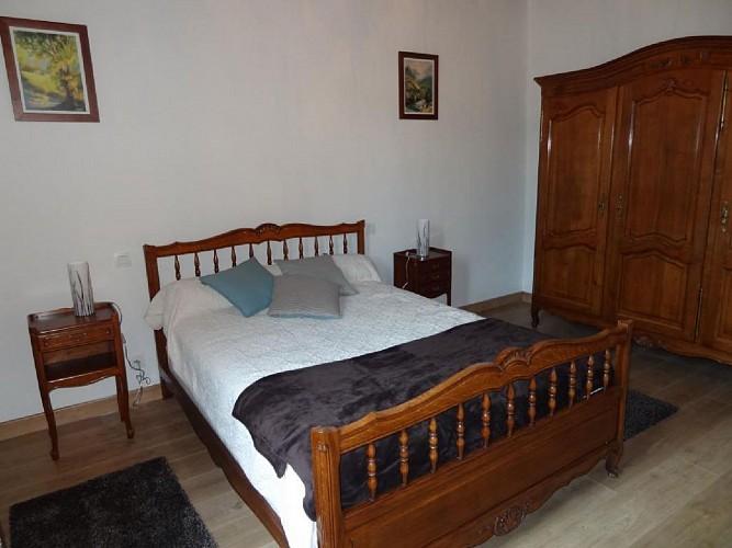 Maison Tambourin - Xantonia - Chambre lit double gris - St Etienne de Baigorry