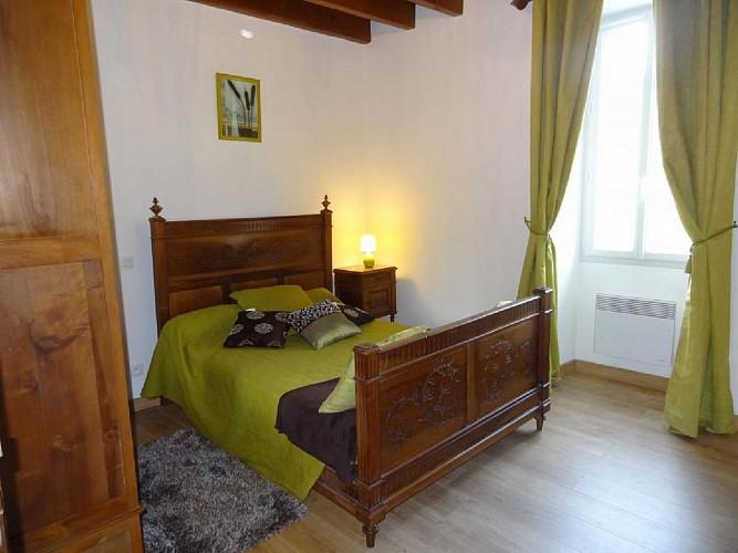 Maison Tambourin - Xantonia - Chambre lit double vert - St Etienne de Baigorry