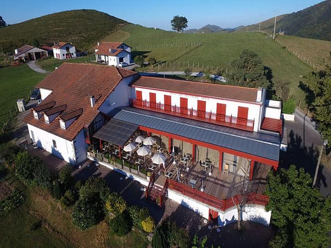 Restaurant Gamia - vue du ciel - Bussunaritz
