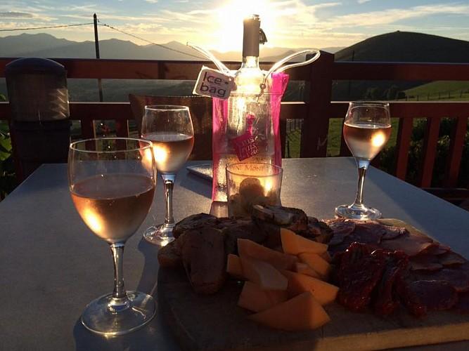 Restaurant Gamia - vue terrasse - Bussunaritz