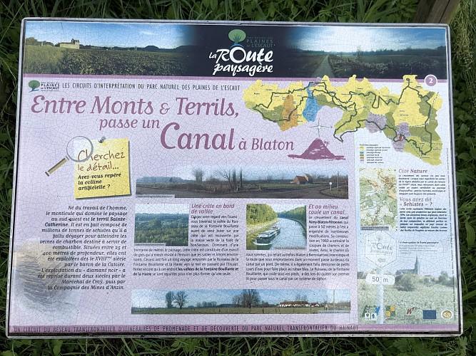 Entre Monts & Terrils, passe un canal à Blaton