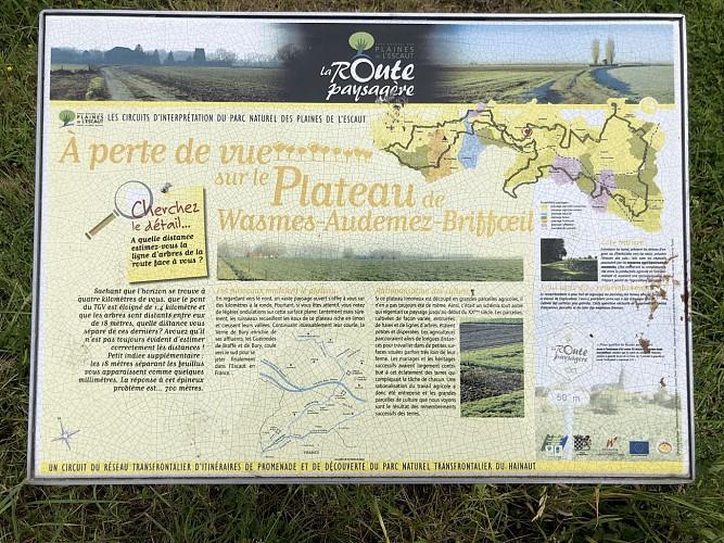 A perte de vue sur le Plateau de Wasmes-Audemez-Briffoeil