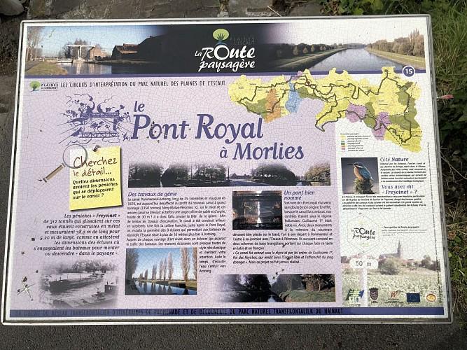 Le Pont Royal à Morlies