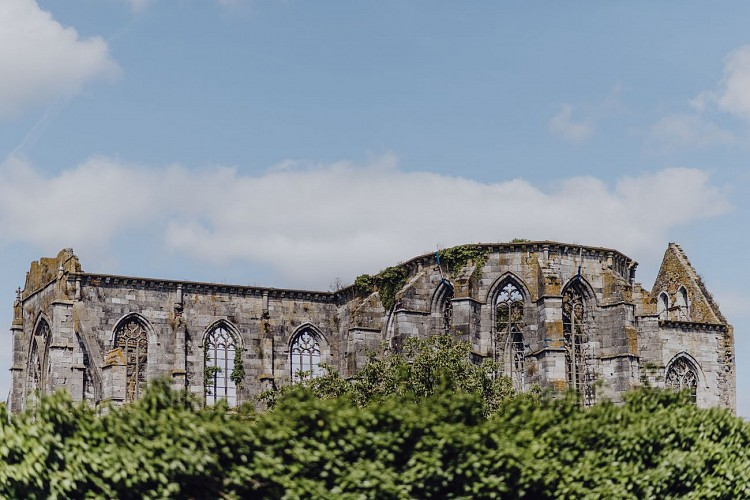 Vestiges de l'Abbaye d'Aulne à Thuin