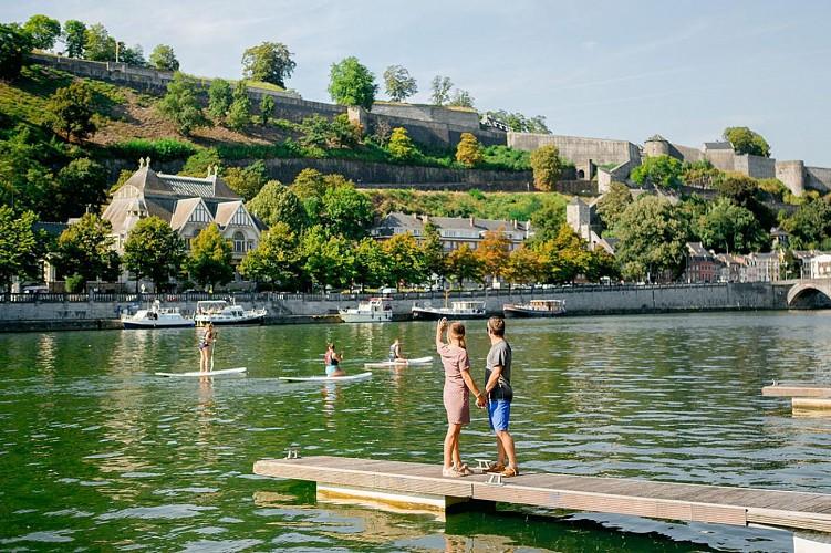 Du sport sur la Meuse