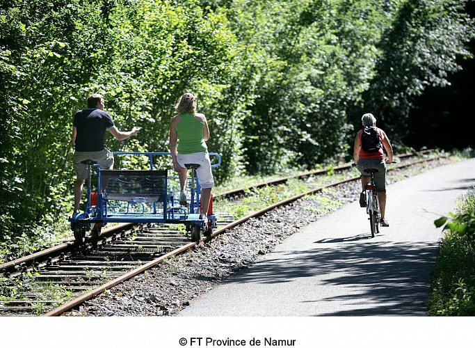 The Draisines in Molignée: rail bikes perfect for a fun day out