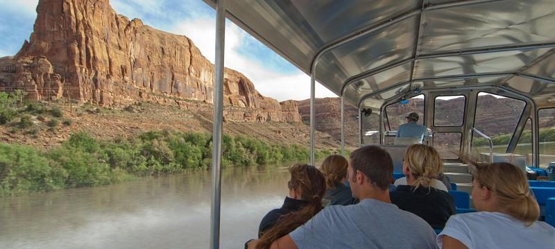 Tour en jet boat sur le Colorado dans le parc national de Canyonlands - Moab