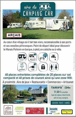 Aire communale du Praineau à Arçais