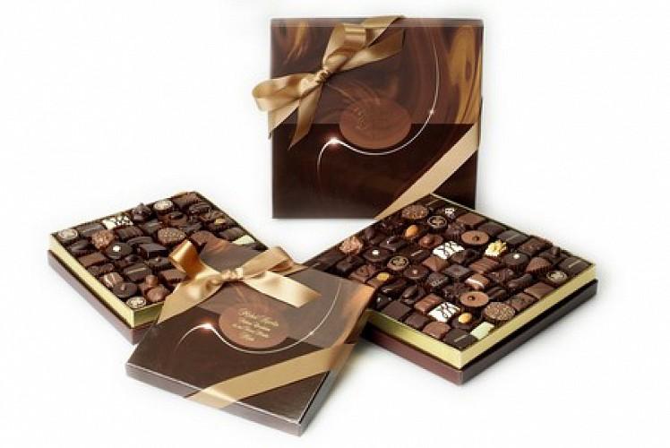 Des boites de chocolats