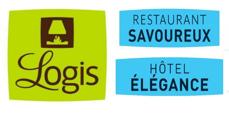 """Logo """"Logis - Hôtel Elégance & Restaurant Savoureux"""""""