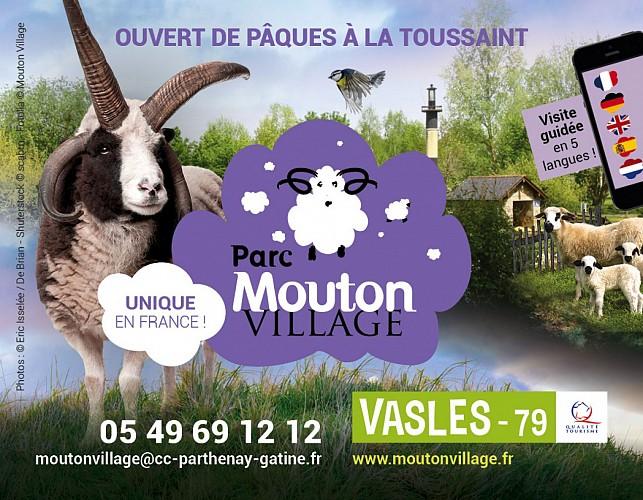 Le parc touristique Mouton Village à Vasles