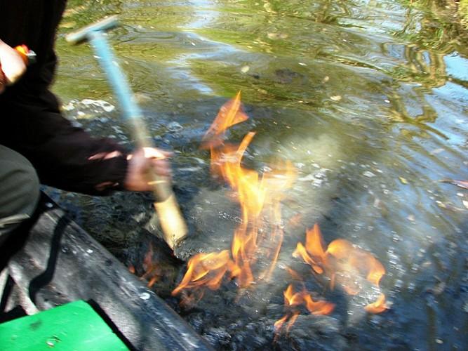 Le feu sur l'eau