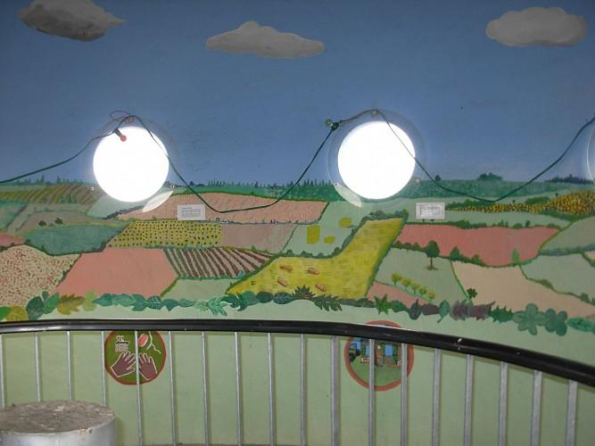 Les fresques monumentales de l'observatoire touristique