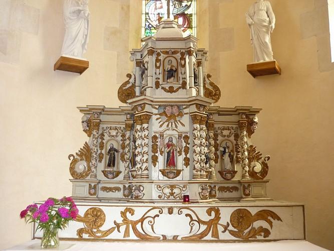 Le tabernacle du XVIIème siècle de l'église Saint-Georges
