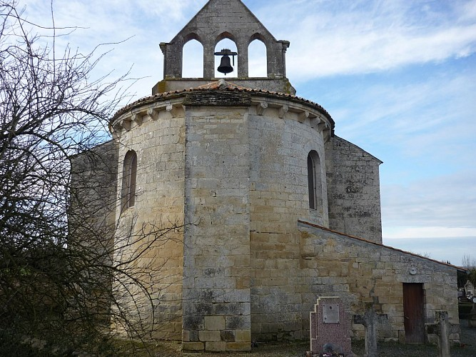 Le chevet de l'église Sainte-Marie-Madeleine