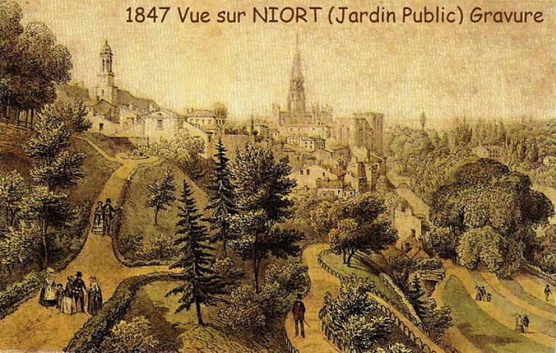 Le Jardin des Plantes à Niort en 1847
