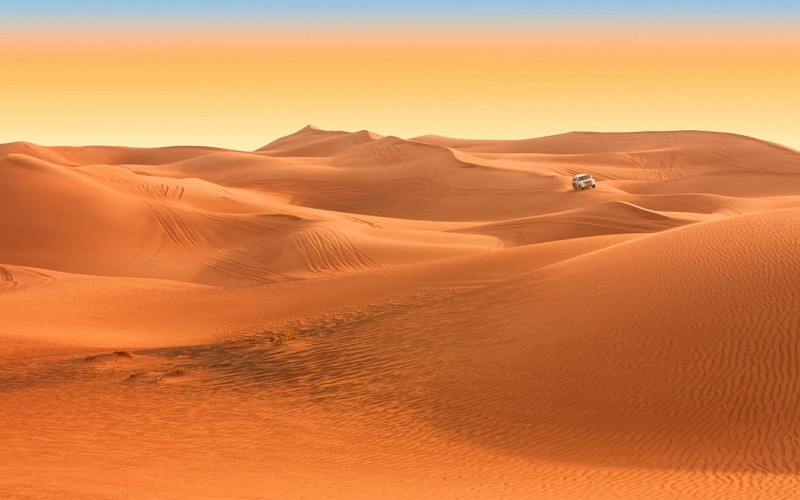 Arabian Dune Desert Safari with Sandboarding, Camel Ride & BBQ Dinner