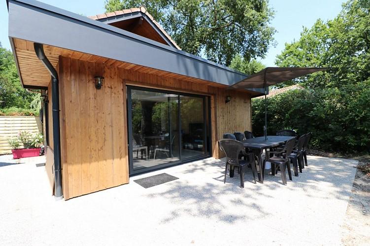 2.Façade terrasse - CHALET HARMONY