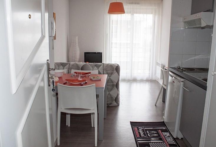 L'intérieur d'un appartement