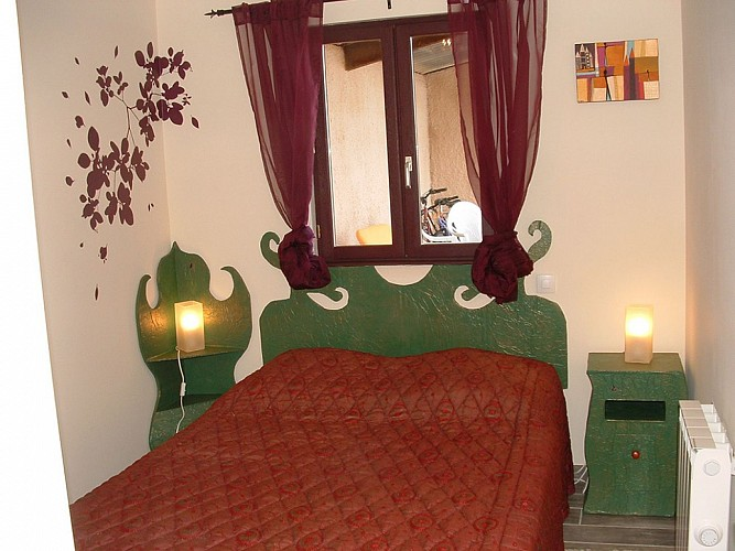 Chambre meublé de Tourisme Gîte du Champ fleury croisé glénay Thouarsais