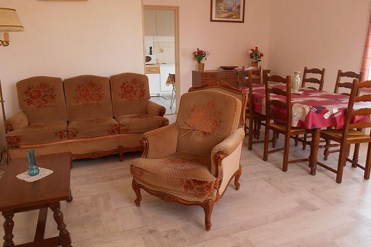 Salon séjour gîte Gaboreau Glénay Thouarsais