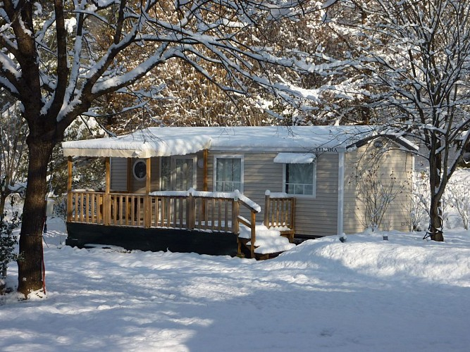 Camping le Rey photo emplacement 2017 neige